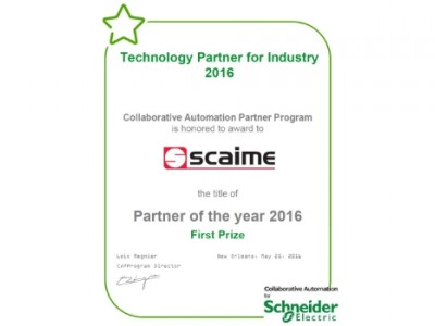 SCAIME partner of the year 2016 schneider electric